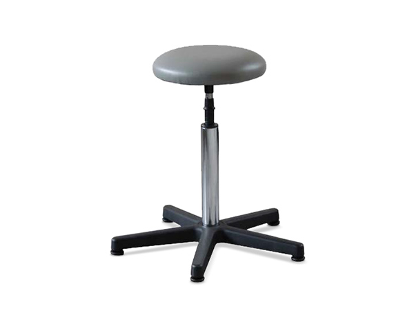 Swivel stool with washable skay plastic fabric